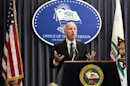 Brown speaks at a news conference to announce the Public Employee Pension Reform Act of 2012 at Ronald Reagan State Building in Los Angeles