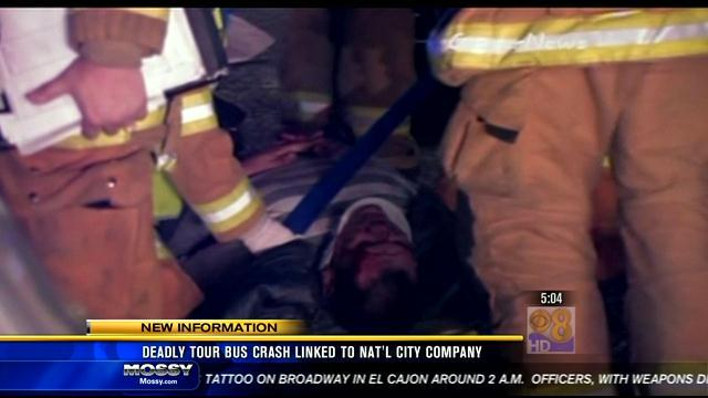 Deadly tour bus crash linked to National City company