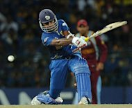 Sri Lanka&#39;s captain Mahela Jayawardene plays a shot during their World Twenty20 final against the West Indies on October 7. &quot;When we were put under pressure, we did not react well,&quot; Jayawardene said after the hosts crashed to a 36-run defeat in Sunday&#39;s final