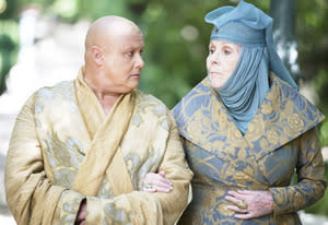 Conleth Hill and Diana Rigg | Photo Credits: Keith Bernstein/HBO