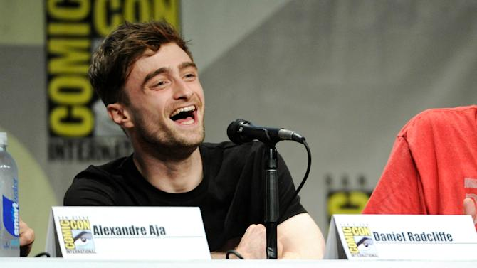 """Daniel Radcliffe attends the RADiUS-TWC """"Horns"""" panel on Day 2 of Comic-Con International on Friday, July 25, 2014, in San Diego. (Photo by Chris Pizzello/Invision/AP)"""