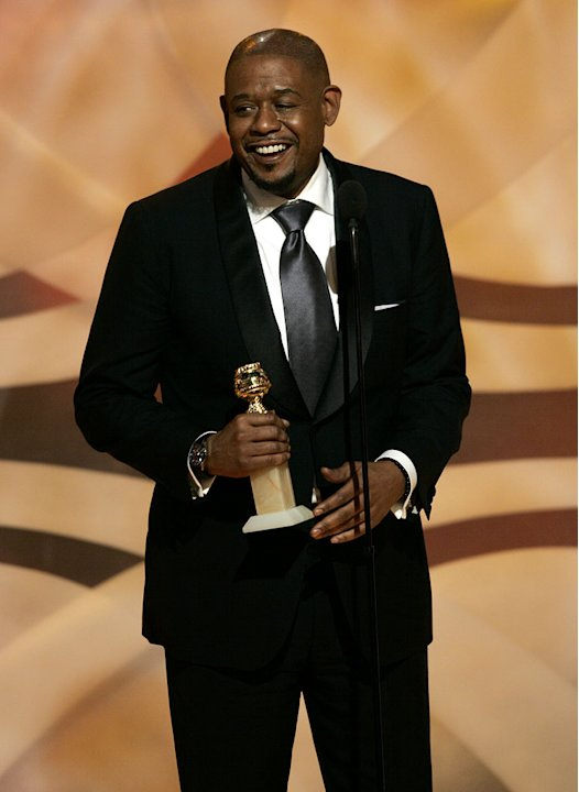 Forest Whitaker seems at a loss for words when he wins at the 64th annual Golden Globe Awards.