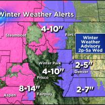Tuesday's Forecast: Cold & Snowy Weather Heading Our Way