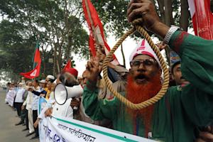 Bangladeshi secular activists and former fighters who…