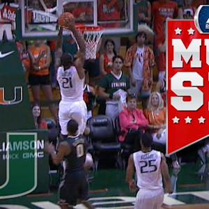 Miami's Erik Swoope Throws Down Ridiculous Alley-Oop In Transition | ACC Must See Moment