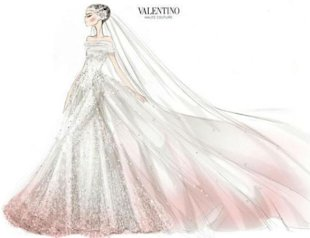 Anne Hathaway's Couture Valentino Wedding Gown Sketch Revealed!