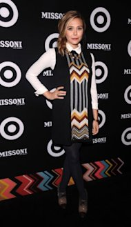 Elizabeth Olsen attends the Missoni For Target event, celebrating the Missoni for Target pop up store, in New York earlier this month.