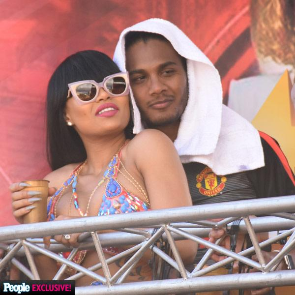 Blac Chyna Parties with Mystery Man at Trinidad Carnival While Rob Kardashian Plays Doting Uncle in Los Angeles