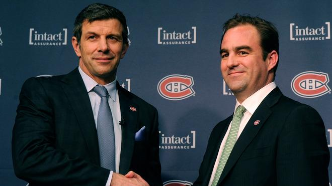 Montreal Canadiens General Manager Marc Bergevin And Team Owner Geoff Molson Shake Hands Getty Images