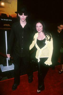 Premiere: Marilyn Manson and Rose McGowan at the Hollywood premiere of Disney's The Straight Story - 10/11/1999