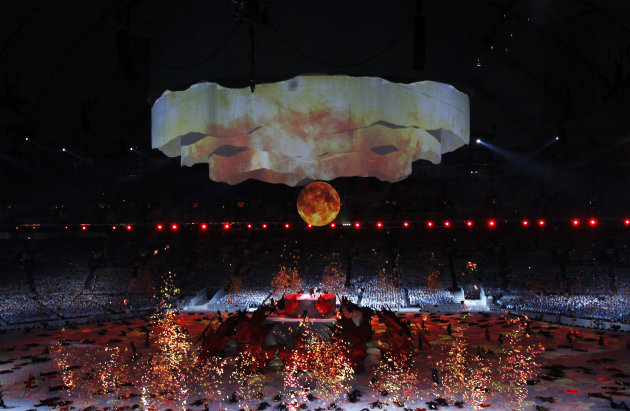 Artists perform during the opening ceremony of the Vancouver 2010 Winter Olympics