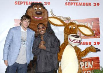 Ashton Kutcher and Martin Lawrence at the LA premiere of Columbia's Open Season