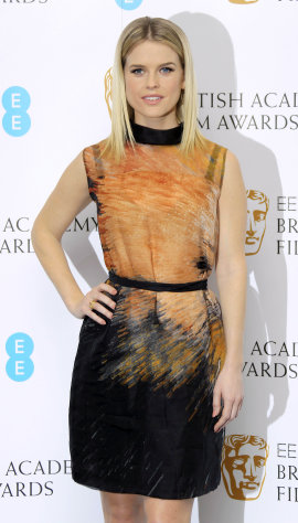 British actress Alice Eve poses during a photo call after announcing the nominations for the EE British Academy Film Awards in 2013 at BAFTA Headquarters in Piccadilly, central London, Wednesday, Jan. 9, 2013. (Photo by Joel Ryan/Invision/AP)