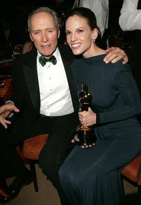 Clint Eastwood and Hilary Swank The 77th Annual Academy Awards - Governors Ball Hollywood, CA - 2/27/05