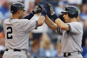 Jeter's homer helps Yankees to 6-2 win over Royals