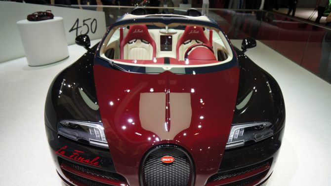 The first and last Bugatti Veyron square off at the Geneva Motor Show