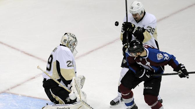 Jokinen, Fleury lead Penguins past Avs 3-2 in SO