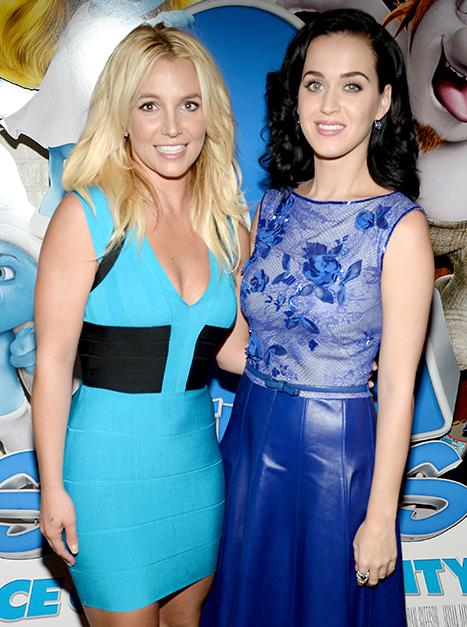 Britney Spears, Katy Perry Collaborated on Smurfs 2 Song, Hint at Vegas Meetup