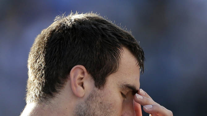 Baltimore Ravens quarterback Joe Flacco wipes his face on the sidelines during the second half of an NFL football game against the San Diego Chargers, Sunday, Nov. 25, 2012, in San Diego. (AP Photo/Gregory Bull)