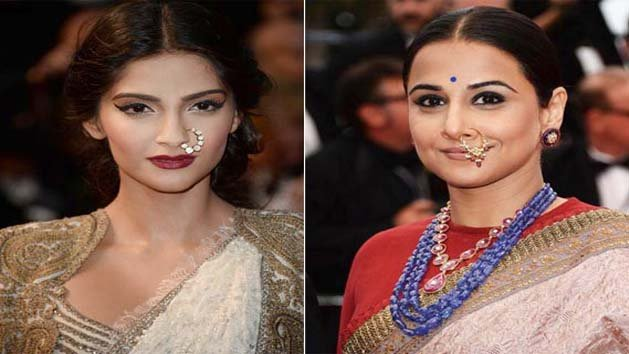 Sonam Vs Vidyas nose ring at Cannes