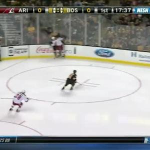 Henrik Samuelsson Hit on Torey Krug (02:30/1st)