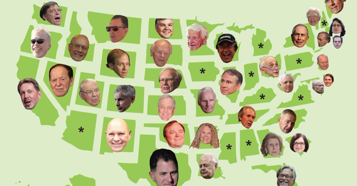 TOP richest people of their state