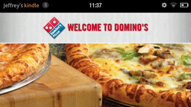 Domino's Pizza Introduces Kindle Fire App