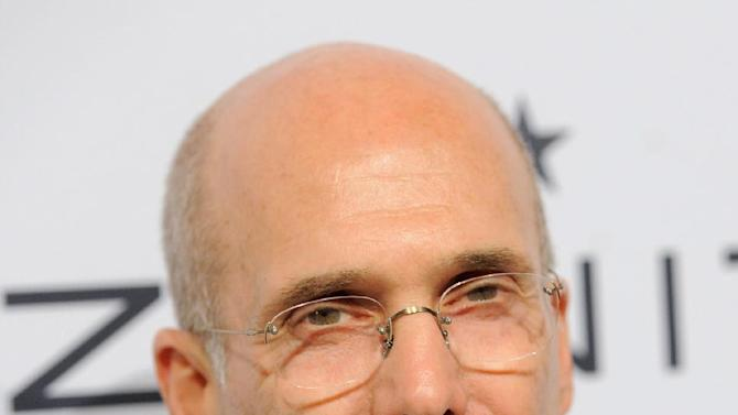 Jeffrey Katzenberg, CEO DreamWorks Animation, arrives at The Hollywood Reporter Nominees' Night at Spago on Monday, Feb. 4, 2013, in Beverly Hills, Calif. (Photo by Chris Pizzello/Invision for The Hollywood Reporter/AP Images)