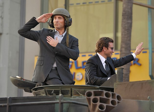 The A Team LA Premiere 2010 Sharlto Copley Bradley Cooper
