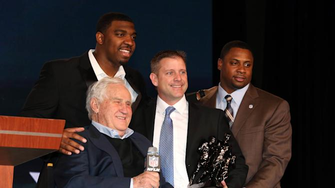 NFL: Super Bowl XLVII-Don Shula NFL High School Coach of the Year Press Conference