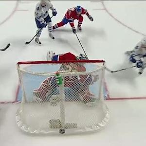 Peter Budaj robs Kessel with the toe save