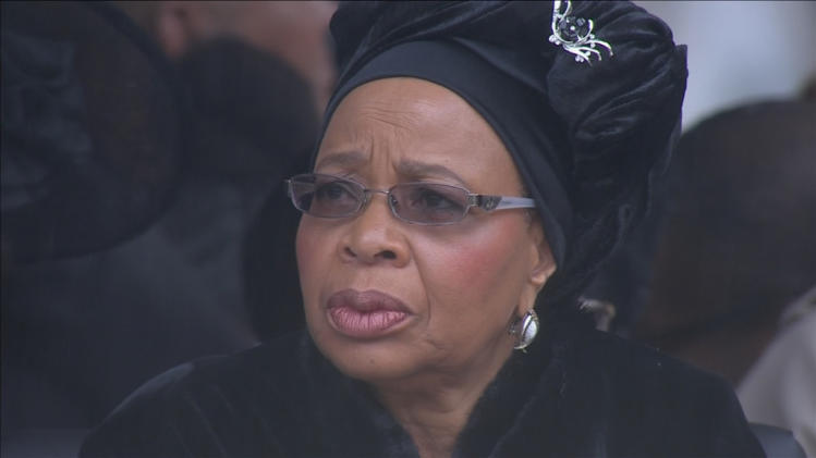 Graca Machel, widow of Mandela, is seen before Mandela's national memorial service in Johannesburg