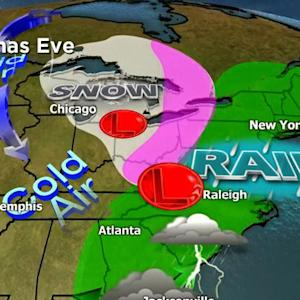 Storms could slow down Christmas travel