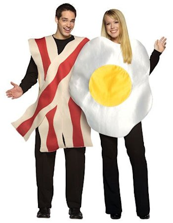 Bacon and Eggs Couple's Costume