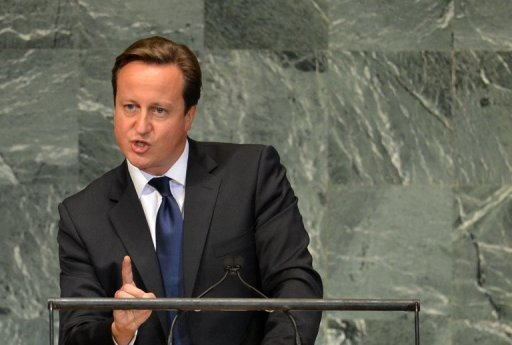 "<p>British Prime Minister David Cameron, pictured at the United Nations General Assembly last month, Cameron threatened to veto the European Union budget, telling The Sunday Telegraph newspaper he would not stand for ""outrageous"" attempts to hike it up.</p>"