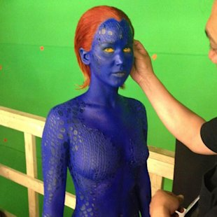 Jennifer Lawrence would have had to stand naked for four hours for her role in X-Men: Days of Future Past [Twitter/Bryan Singer]