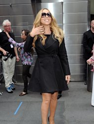 """American Idol"" Season 12 judge Mariah Carey arrives for day one auditions at Jazz at Lincoln Center on Sunday, Sept. 16, 2012 in New York. (Photo by Evan Agostini/Invision/AP)"