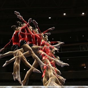 Eye-popping images of gymnasts in motion