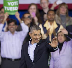 President Barack Obama waves after delivering a speech …