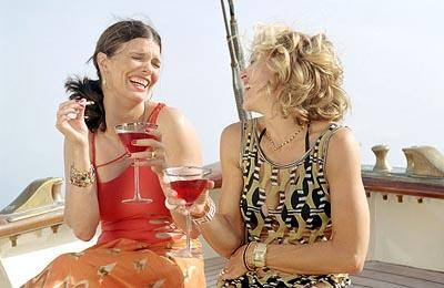 Jeanne Tripplehorn and Madonna in Screen Gems' Swept Away