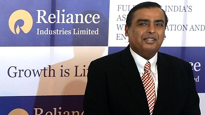 "A fall in oil prices has seen Mukesh Ambani, pictured, cede his status as ""India's richest man"" to pharmaceutical tycoon Dilip Shanghvi, who edged to the top of Forbes' list of billionaires in the country"