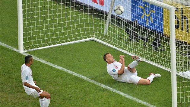 FOOTBALL England defender John Terry hooks the ball clear during the 1-0 Euro 2012 Group D win over Ukraine.