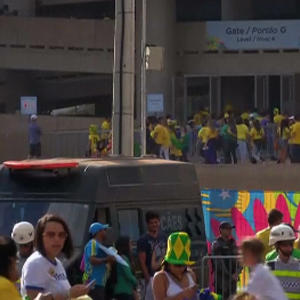 Raw: Brazil Fans Arrive for Third Place WC Match