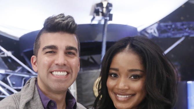 NASA's Bobak Ferdowsi and Keke Palmer host Change the Equation's iON FUTURE Launch at NASA Jet Propulsion Laboratory on Tuesday November 20, 2012 in Pasadena, California .  (Photo by Todd Williamson/Invision for Change the Equation/AP Images