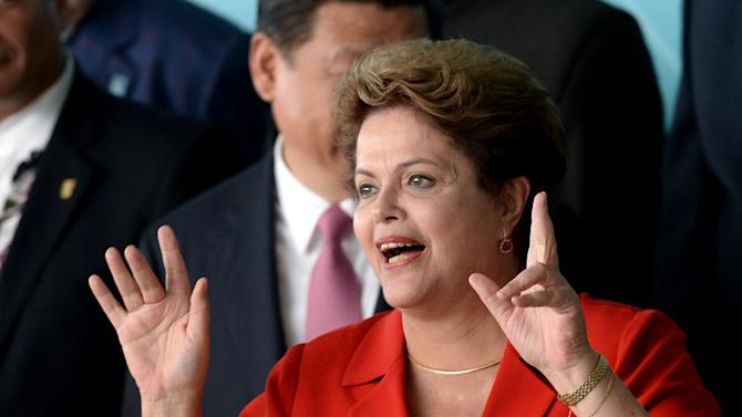 Brazilian president Dilma Rousseff at the China-CELAC summit at Itamaraty Palace in Brasilia on July 17, 2014