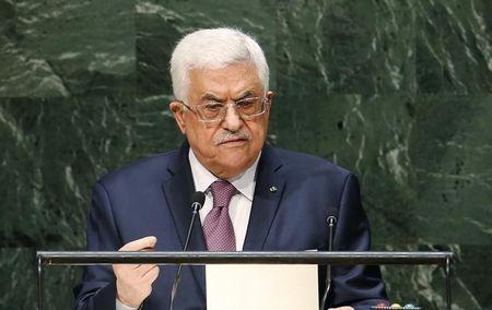 Palestinian President Mahmoud Abbas addresses the 69th United Nations General Assembly at United Nations Headquarters in New York