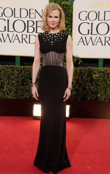 Nicole Kidman: You can always count on Nicole to be a favourite on the best dressed list. This Alexander McQueen is so different from the other gowns out there with the unique paneled sheer  print on