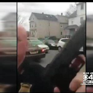 Boston Police Officer Waves Toy Gun At Bystander