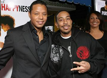 Terrence Howard and Chris 'Ludacris' Bridges at the Los Angeles premiere of Columbia Pictures' The Pursuit of Happyness