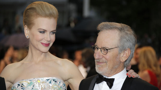 Jury members Nicole Kidman and Steven Spielberg arrive for the opening ceremony and the screening of The Great Gatsby at the 66th international film festival, in Cannes, southern France, Wednesday, May 15, 2013. (AP Photo/Lionel Cironneau)
